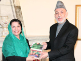 Suraya Sadeed and President Karzai