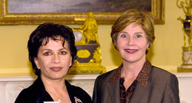 Laura Bush and Suraya Sadeed